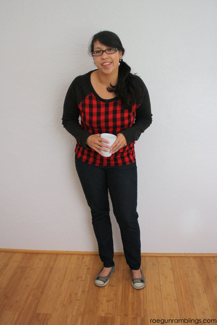 Super easy to wear and make DIY raglan for adults