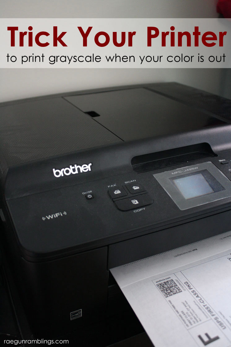 Save money on ink by bypassing color ink while grayscale printing