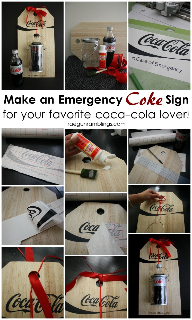 LOVE this such a fun girlfriend gift idea. Perfect for all Diet coke lovers. Easy DIY sign tutorial