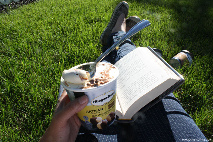 Books and ice cream. Great reading list for when you need me time