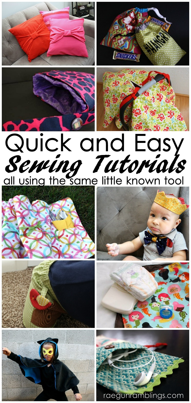 quick and easy DIY sewing tutorials and a must have sewing tool most people haven't heard of to make them all even easier