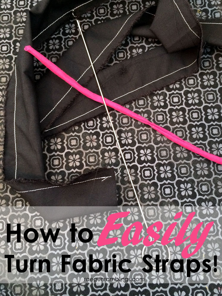the trick to fast and perfect spaghetti straps DIY sewing tutorial