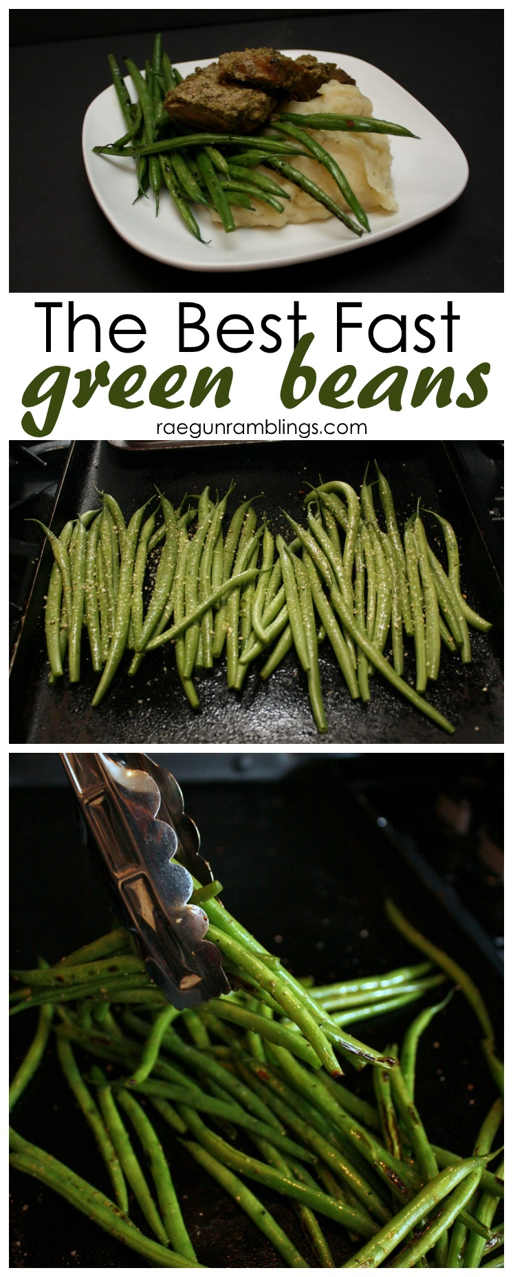 These are so good. Best vegetable side ever. Fast green bean recipe