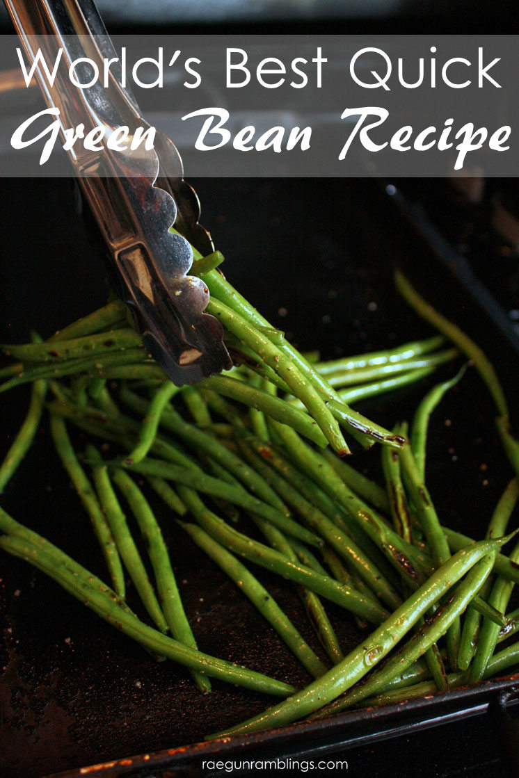 This is my new favorite vegetable side dish recipe. Super delicious healthy green beans perfect for dinner or any meal.
