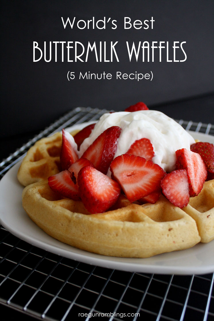 This buttermilk waffle recipe is the best. Easy to have breakfast ready in less than 15 minutes.