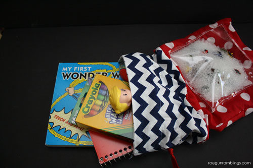 DIY Activity Bag with I Spy Patch