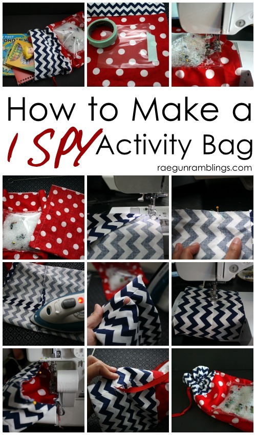 DIY I SPY kid activity bag