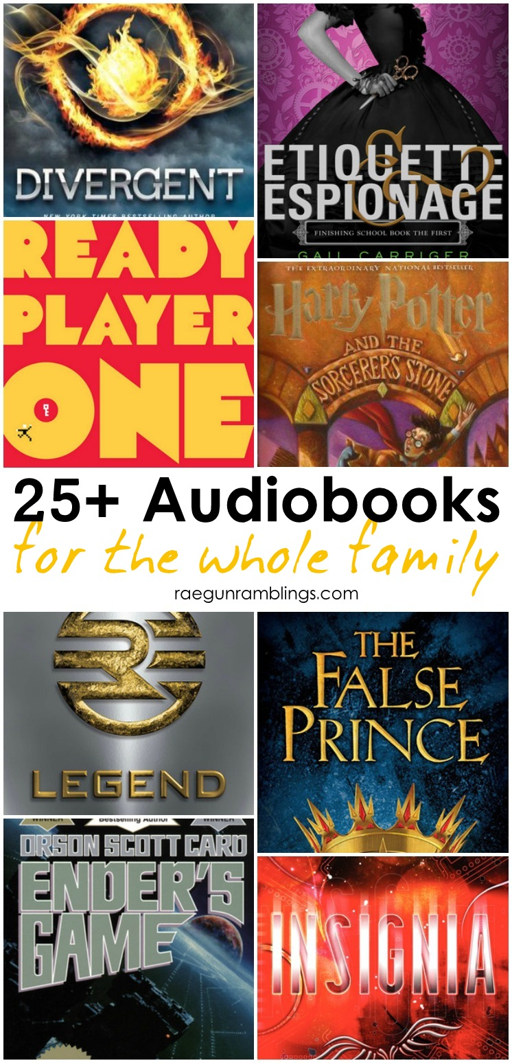 Tons of great books to listen too. Audiobooks are great for yard work and road trips