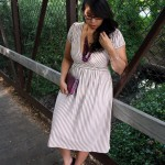 DIY stripe knit dress