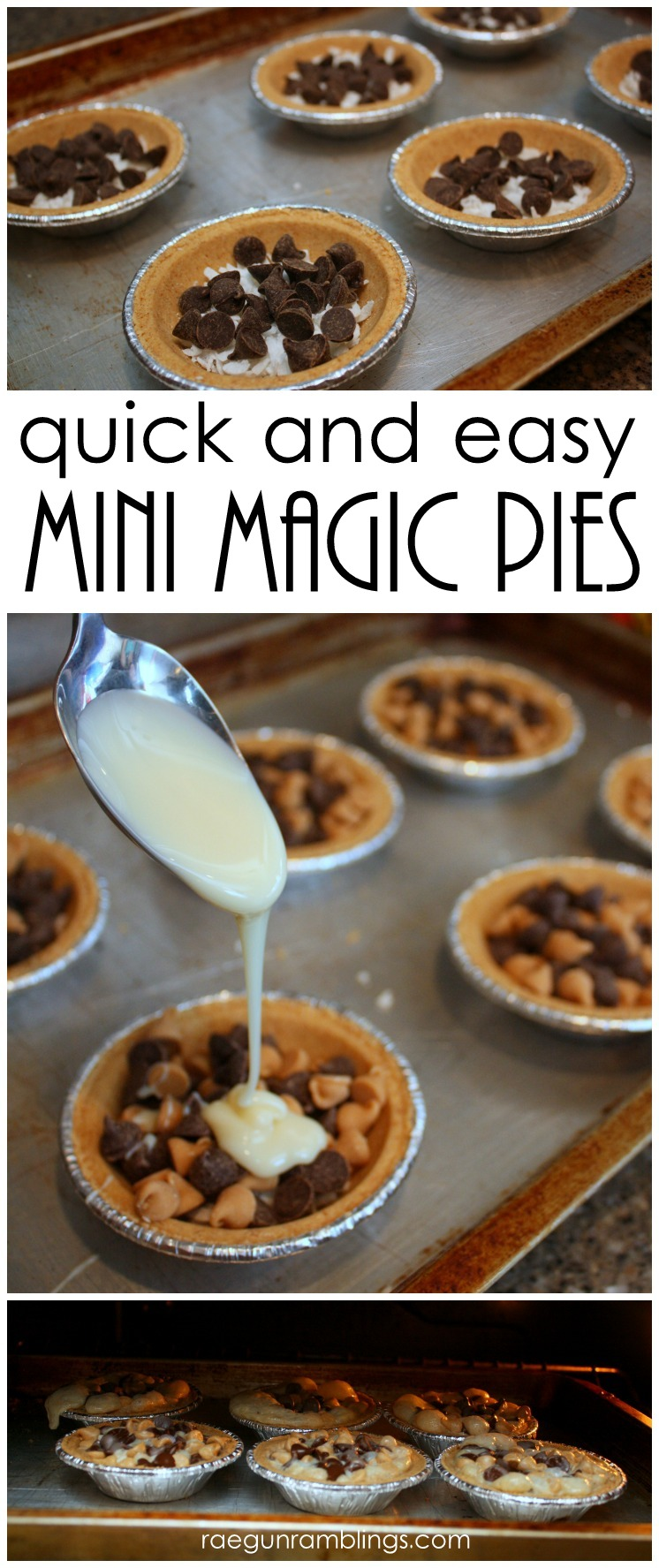 easiest tasty coconut magic pies recipe.