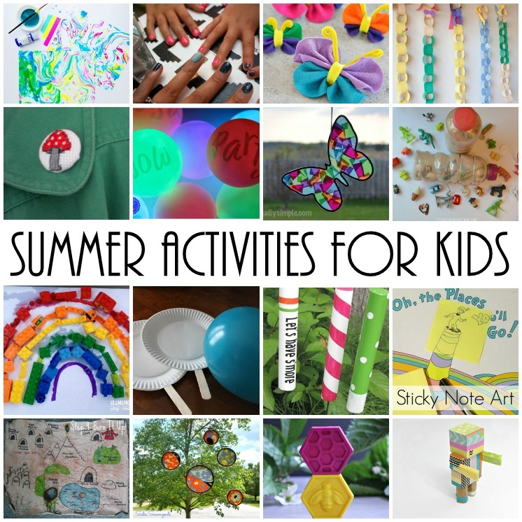 summer kid activities crafts and other boredom busters