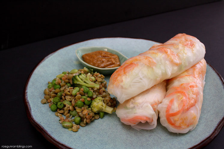 Delicious and healthy Vietnamese Summer Rolls recipe. Great way to get veggies and easy meal idea.