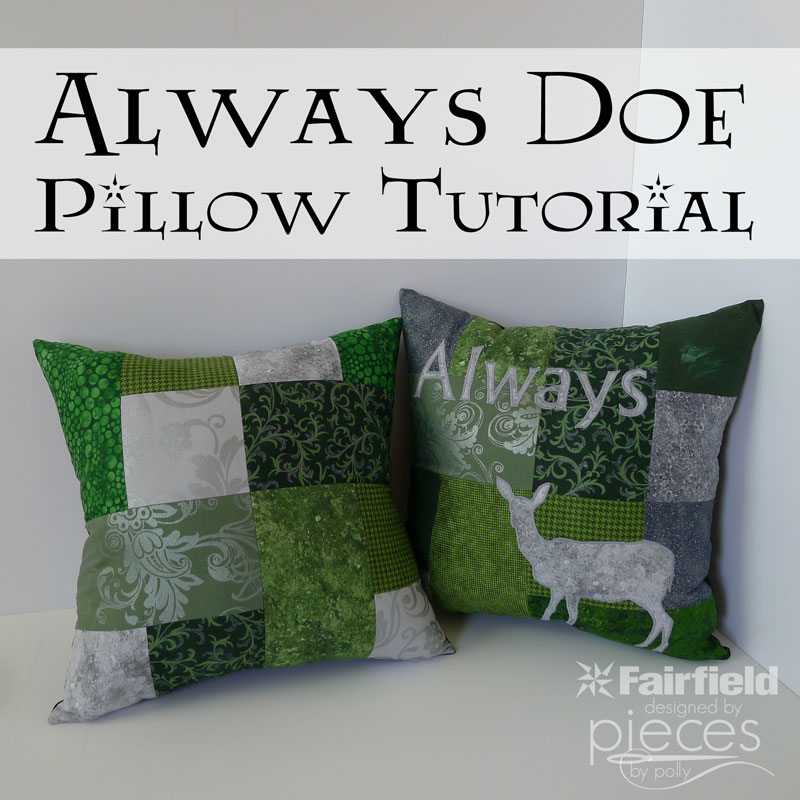 must make this great Always doe pillow tutorial inspired by Harry Potter