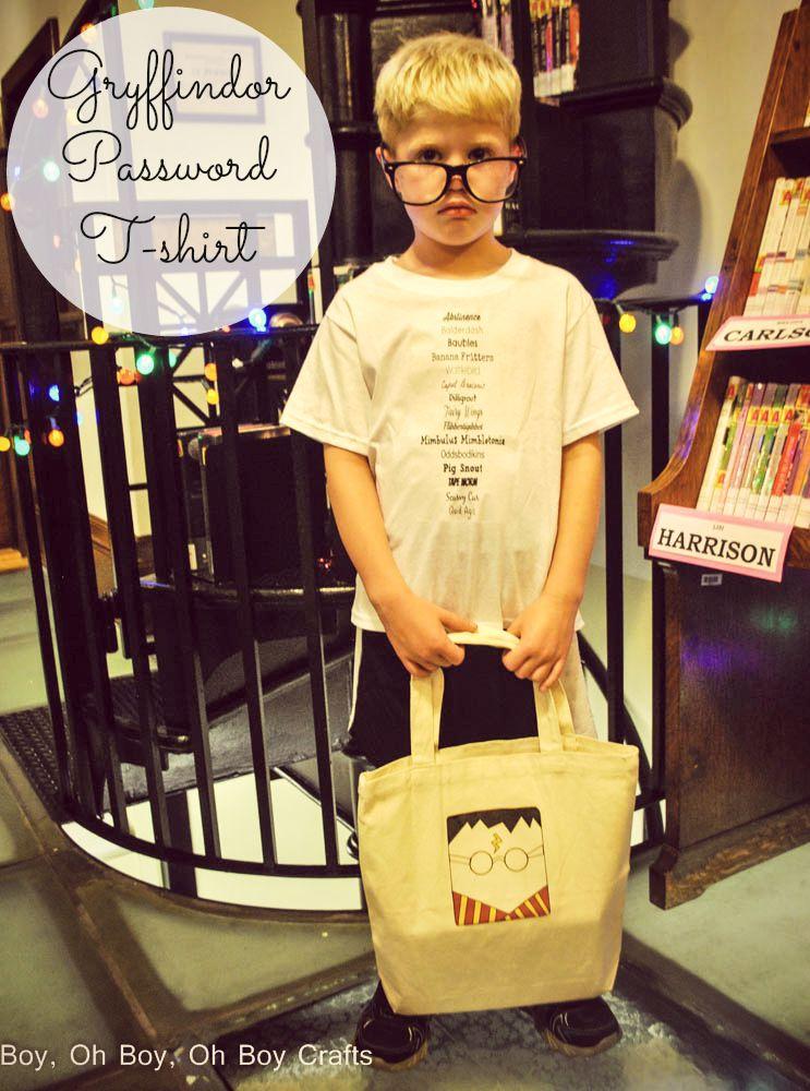 Gryffindor Passwords Harry Potter Shirt