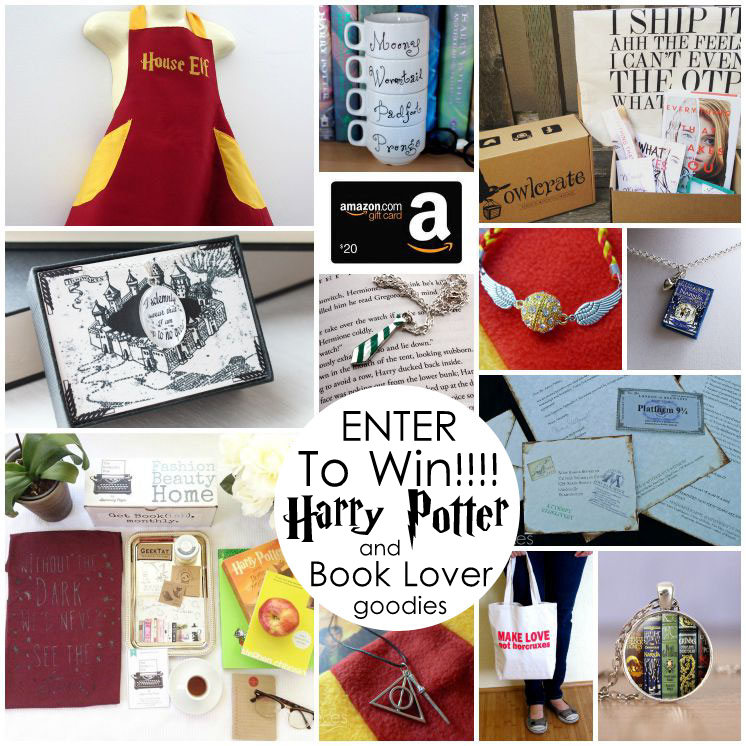 Huge Harry Potter giveaway. Lots of cute shops to remember for Christmas for Harry Potter fans