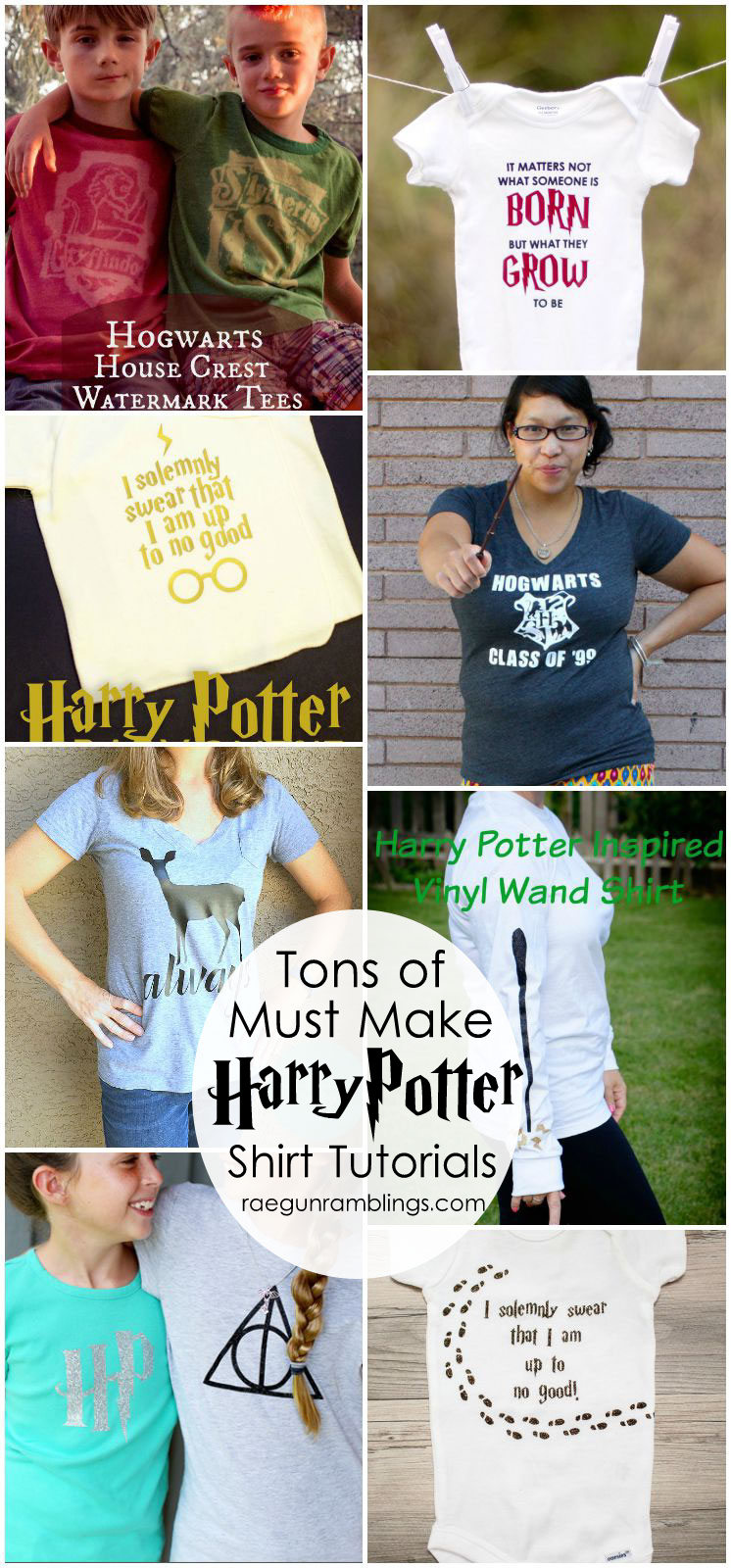 Over 50 awesome harry potter projects rae gun ramblings love all these harry potter shirts so many great tutorials solutioingenieria Image collections