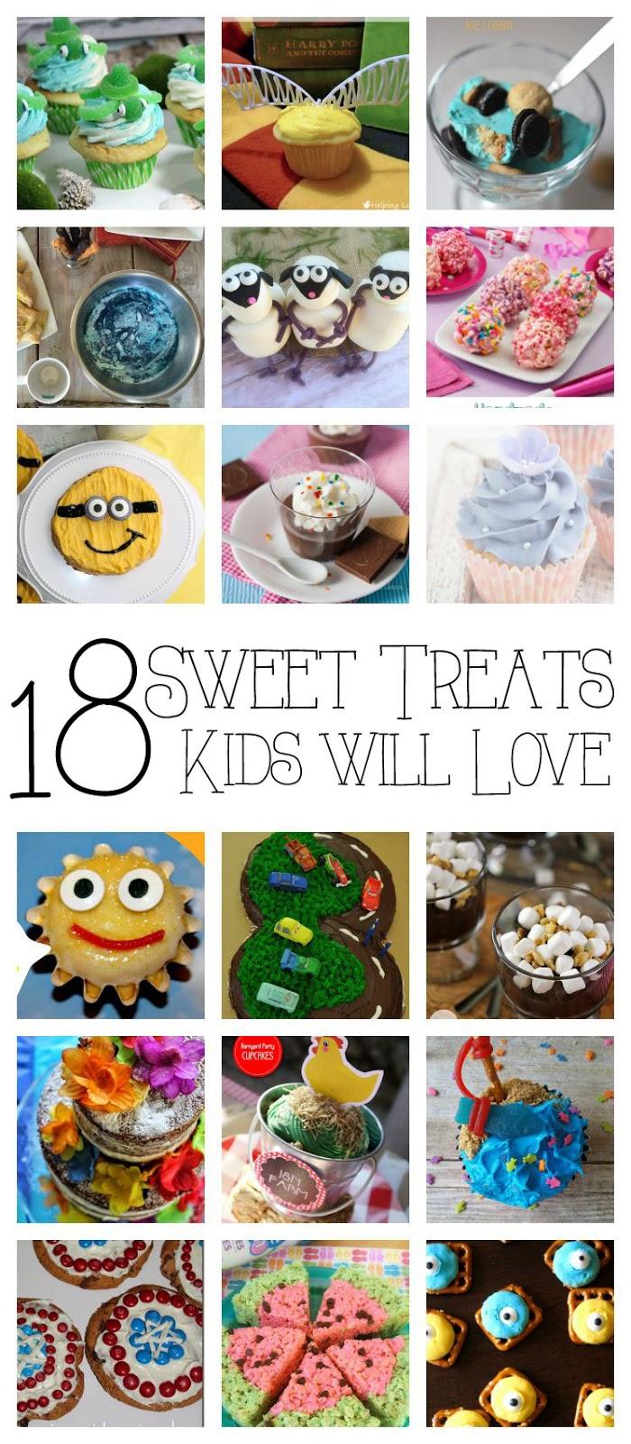 Sweet treats for kids. Fun dessert recipes