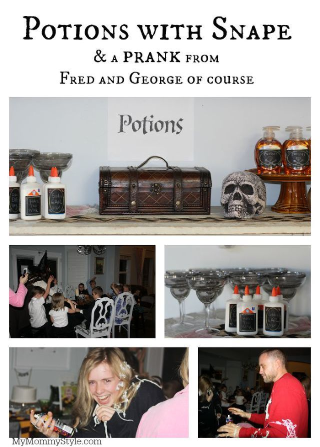 Huge Harry Potter birthday party with tons of food, activities and decor ideas like potions with Snape