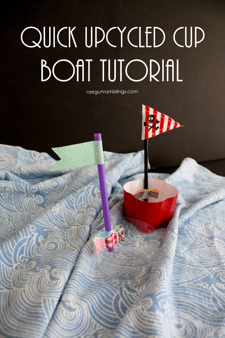 How to make cute pirate boats in 5 minutes with stuff you have on hand. Fun kid activity and tutorial