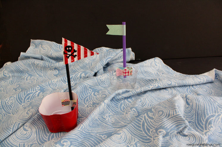 fast summer kids craft. upcycled plastic cup boats