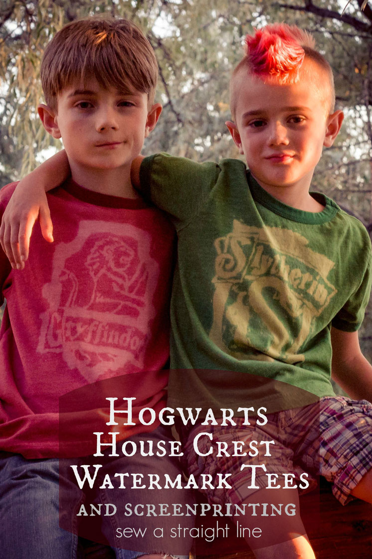 DIY harry potter crest watermark tees sew a straight line