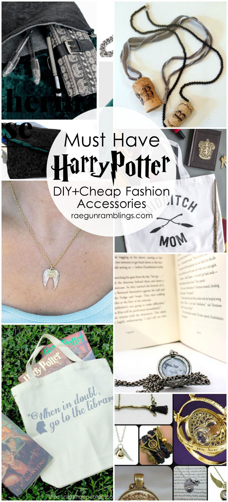 Super cute. Must make all these Harry Potter necklaces and bags. DIY tutorials