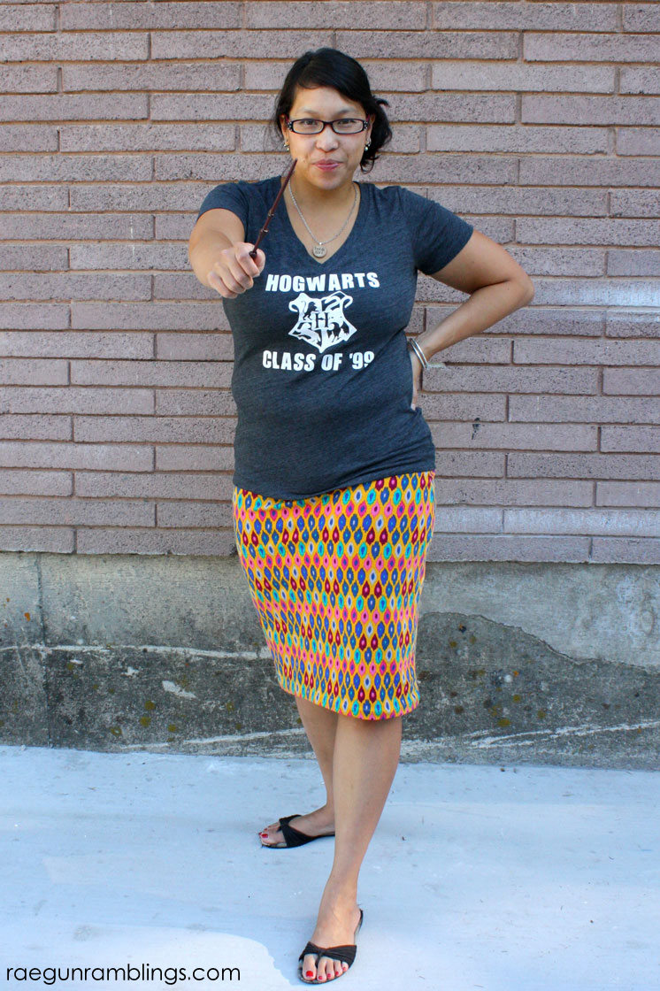 hogwarts alumn skirt and ikat knit diy skirt
