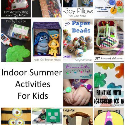 Indoor Summer Kid Activities