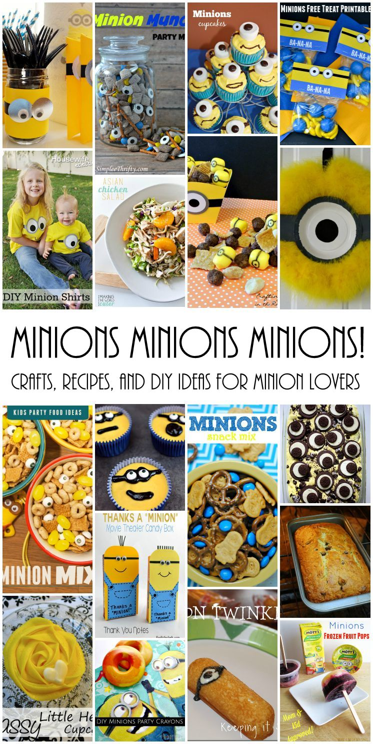 Lots of amazing DIY crafts, recipes, party ideas and more for Minion lovers