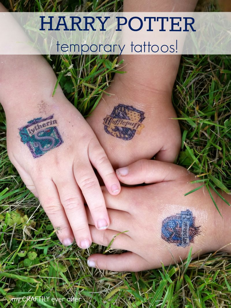 DIY printable harry potter temporary tattoos with lots of designs