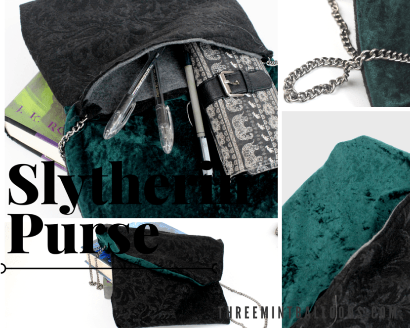 slytherin purse tutorial