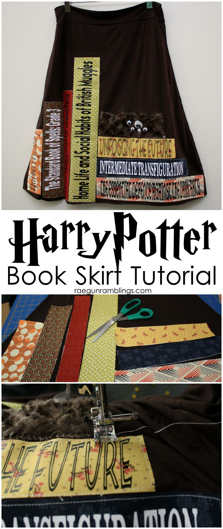 Must make for all Harry Potter fans. Hermione would love this. Hogwarts textbook skirt diy tutorial