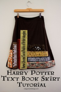 Must make Harry Potter inspired Text book skirt. Step by step tutorial instructions