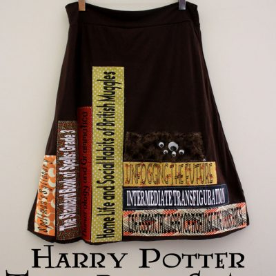 Hogwarts Textbooks Skirt and 20 Minute Knit A-line Skirt Tutorial