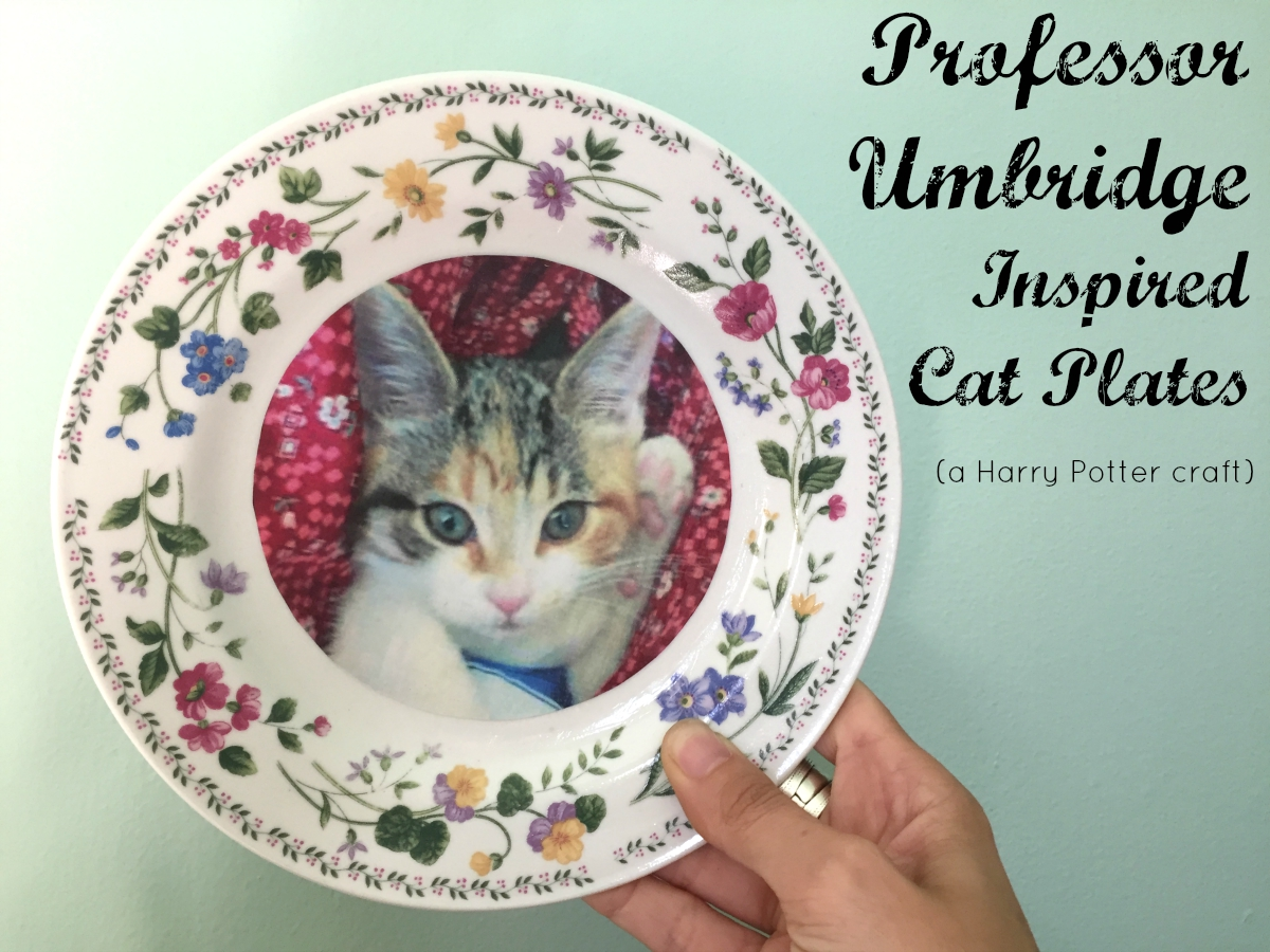 diy harry potter umbridge plates tutorial