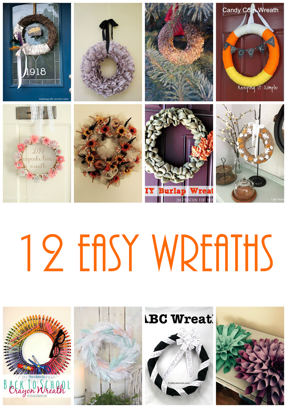 12 easy wreath to DIY for your home and front door