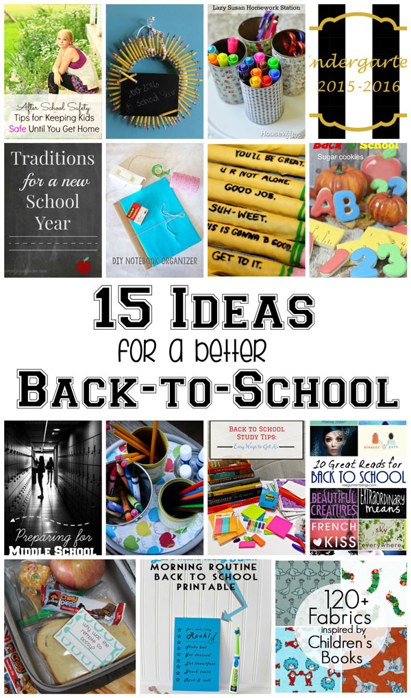 fabulous back to school ideas diys and book lists