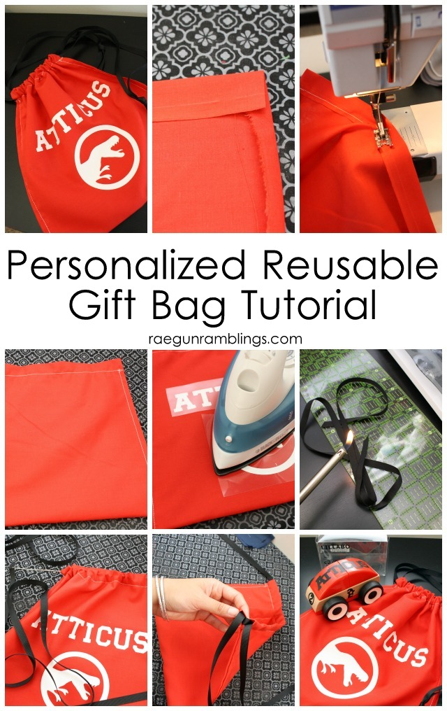 Step by step instructions to making a quick and easy diy personalized gift bag. Great tutorial