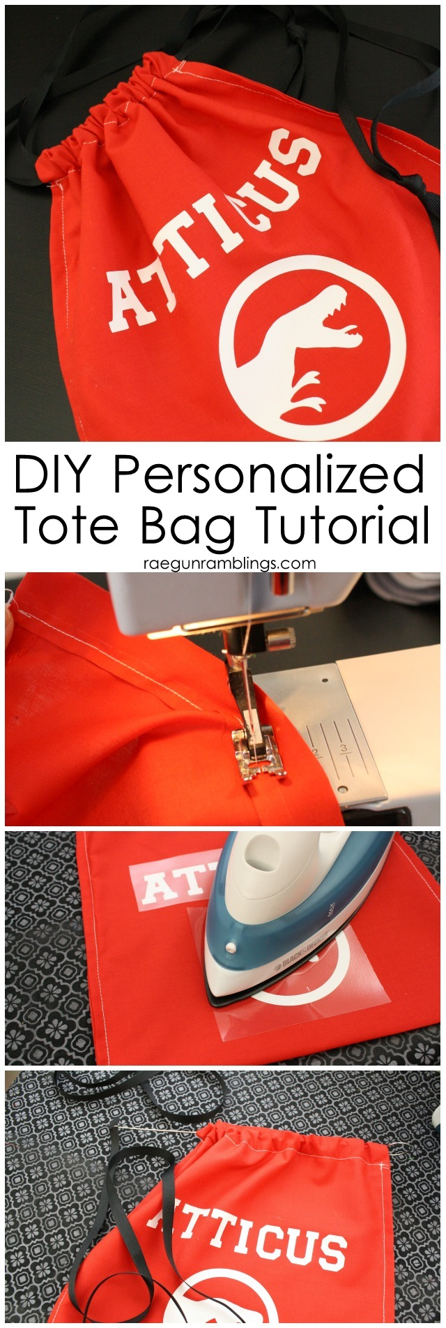 how to make a fast personalized gift bag. easy sewing tutorial