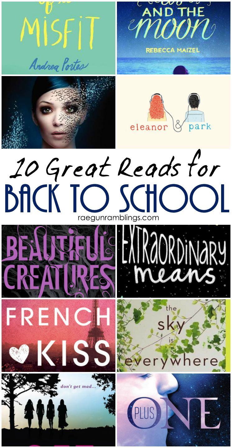 Fun reading list full of back to school inspired young adult books to read.