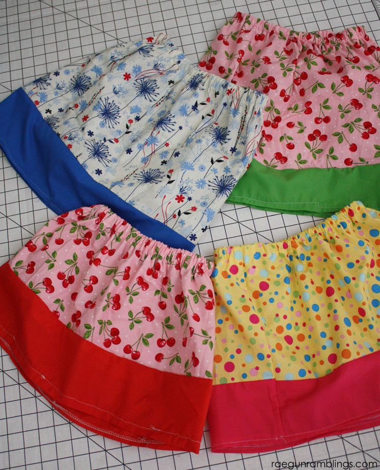Easy skirt tutorials for learners and kids wanting to sew