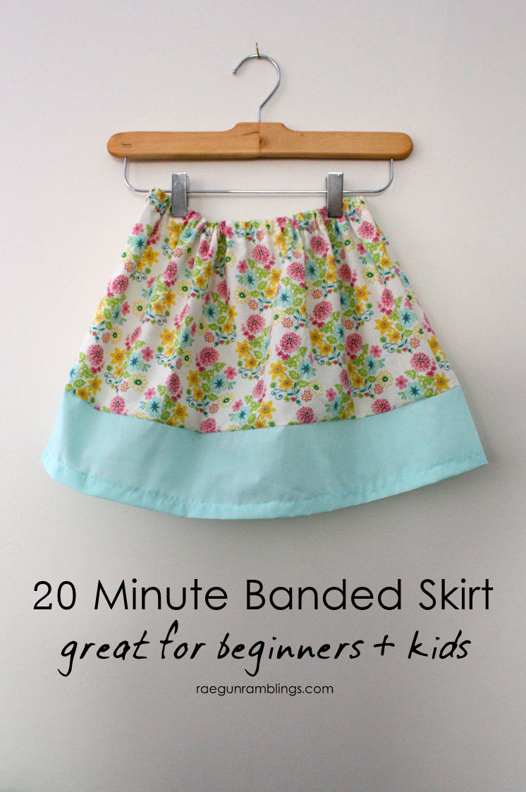 Love this skirt tutorial for teaching kids and beginners how to sew. Great first DIY sewing project.