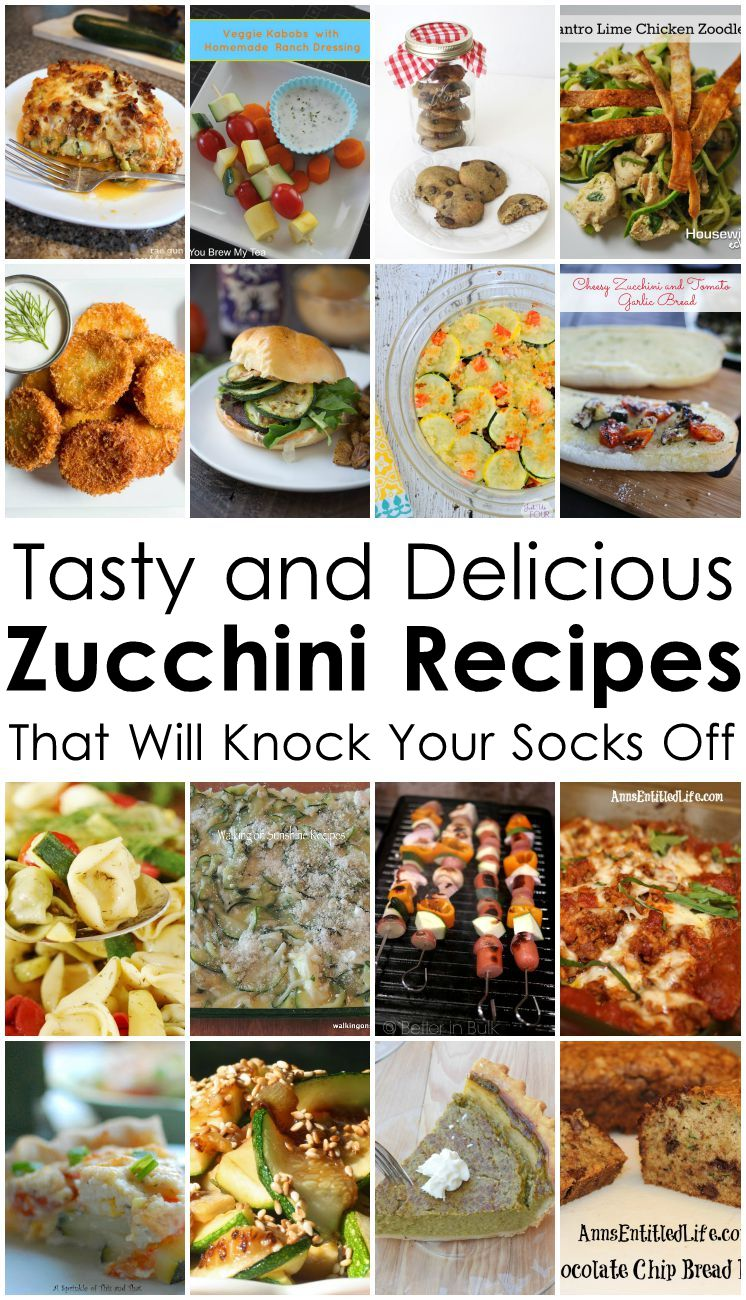So many delicious Zucchini recipes dinner, sides and desserts