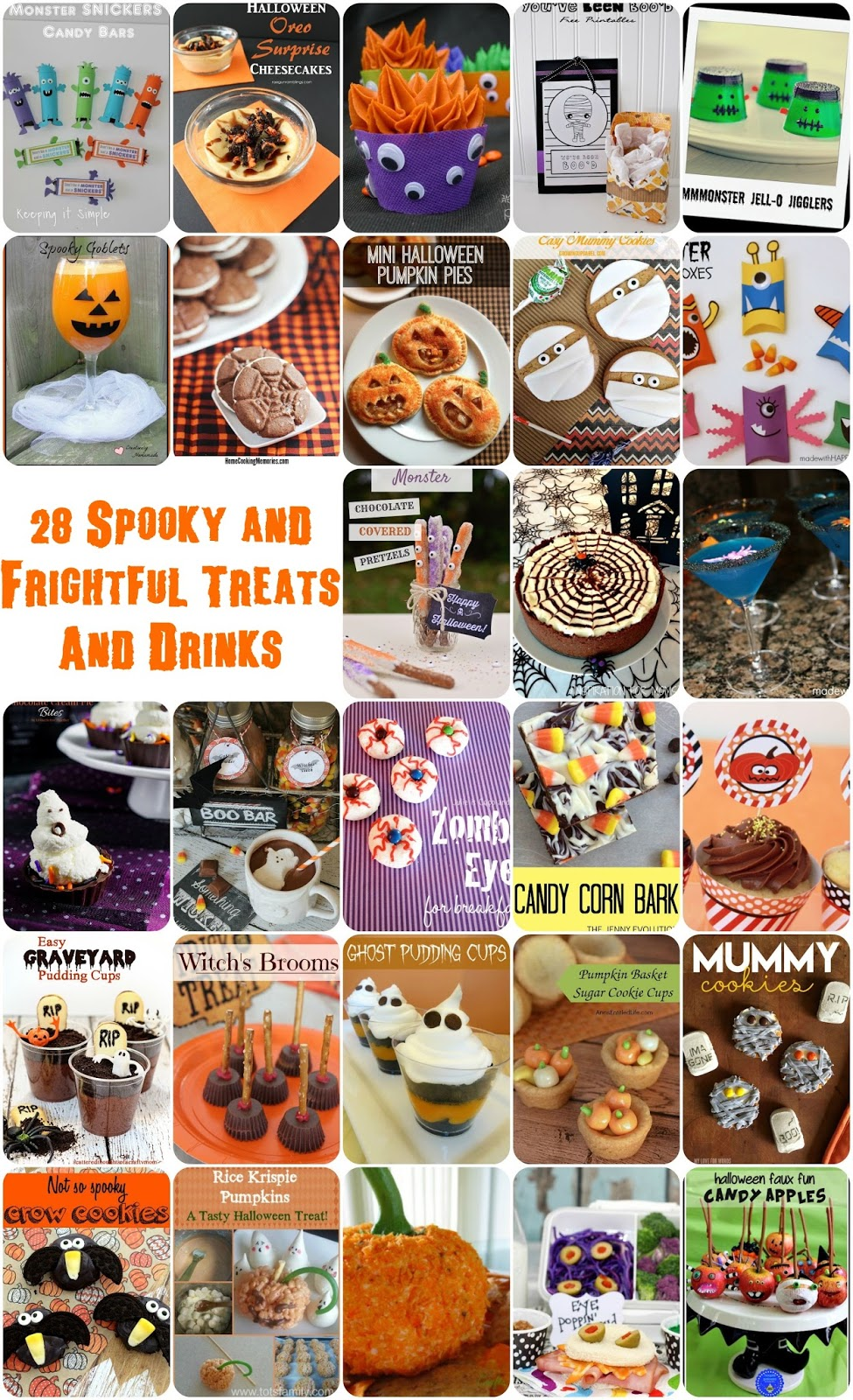 28 Spooky and Frightful Halloween Treats and Drinks