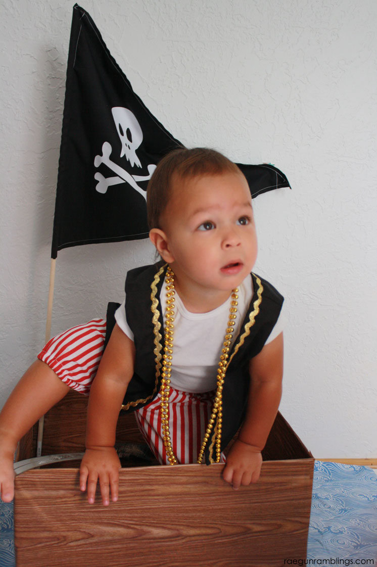 super cute pirate costume perfect for halloween or pirate birthday parties
