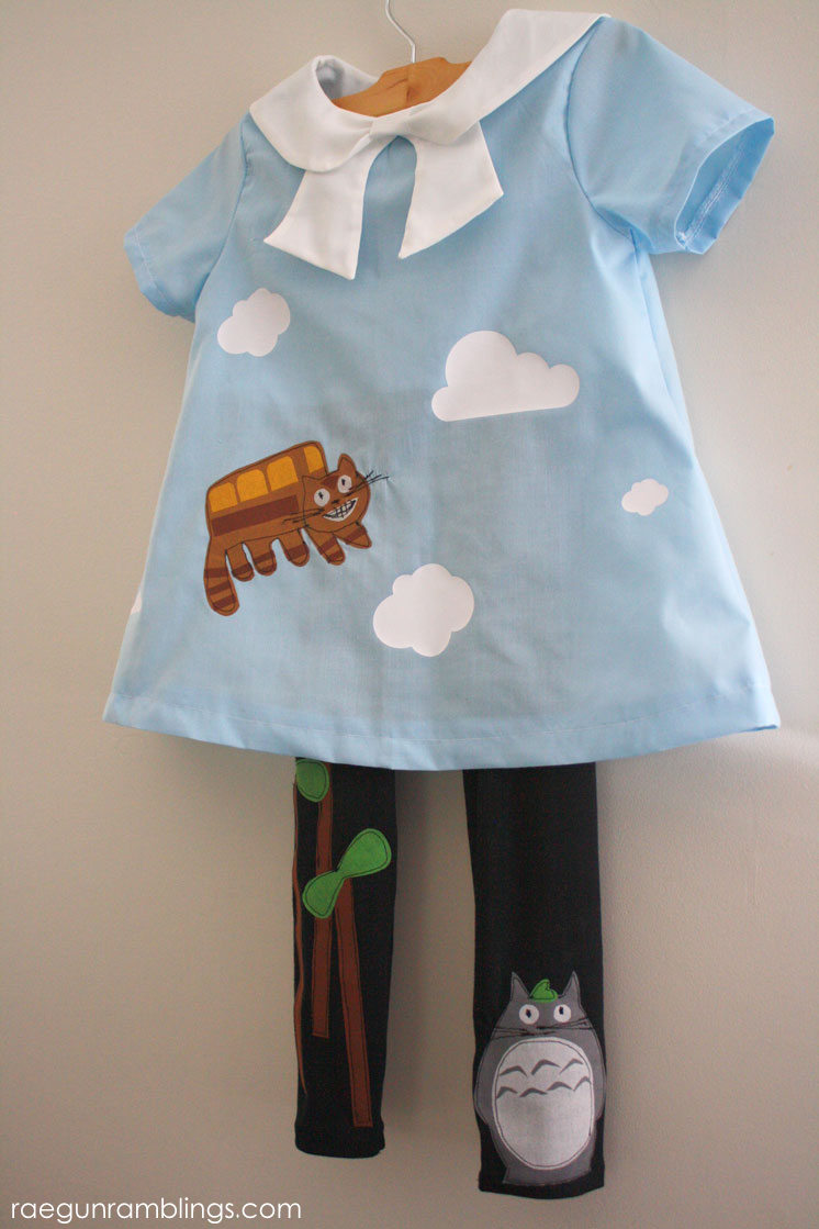 How to applique Totoro and Cat Bus
