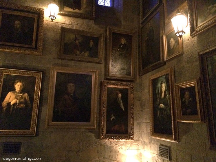 Wizard photos inside Hogwart's Castle at the Wizarding World of Harry Potter tour through pictures