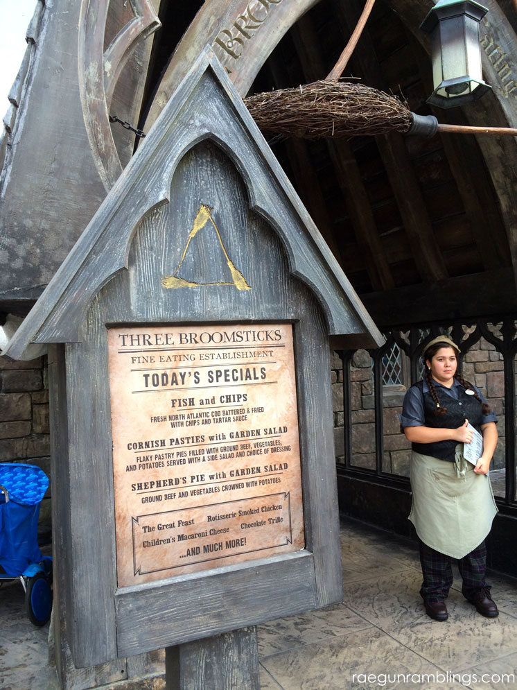 Three Broomstick at the Wizarding World of Harry Potter tour through pictures