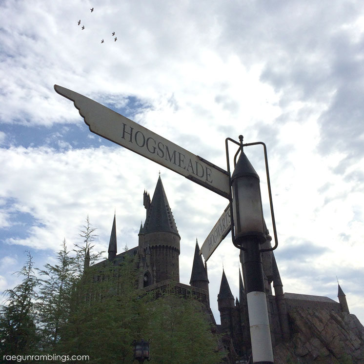 Street signs Hogwart's Castle and huge picture tour love the detail of the wizarding world of harry potter