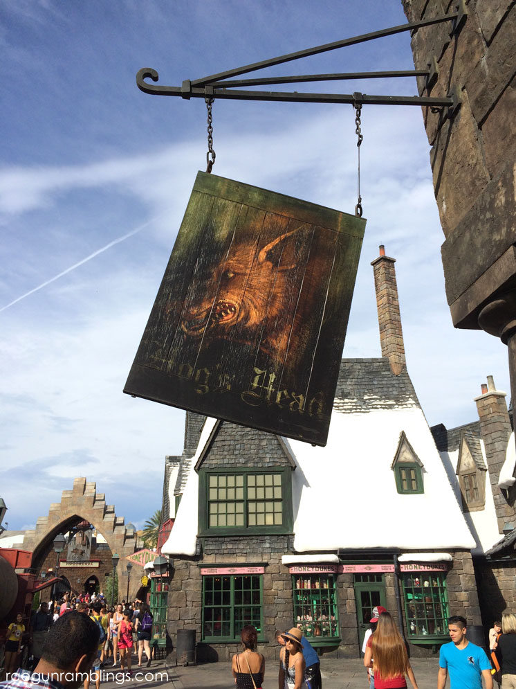 Hog's Head in Hogsmeade at the Wizarding WOrld of Harry potter with lots and lots of pictures